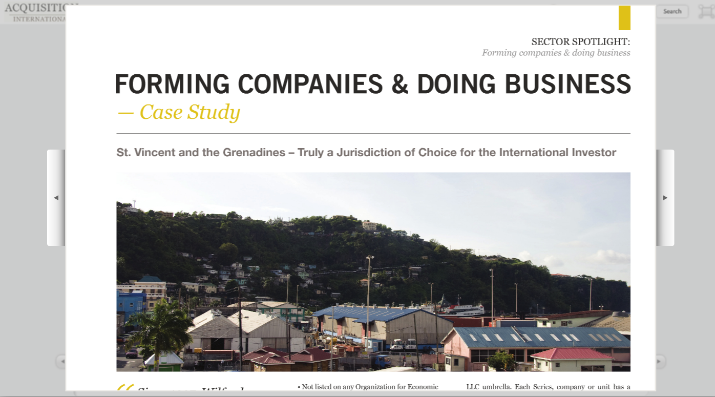 Wilfred Services contributes to Acquisition International Magazine